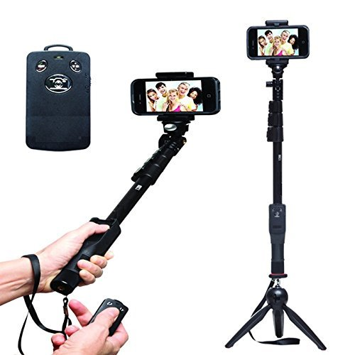 SHOPEE BRANDED SHOPEE BRANDED YT-1288 A Selfie 2 In 1 Adjustable Monopod Stick AND With YT 228 Mini Tripod for Smartphones & DSLR Cameras Combo Compatible with Nikon, Cannon, Sony DSLR, Apple, Samsung, Htc, Lenovo, Oneplus, Motorola, Nexus, Xiaomi Redmi Note 3 ETC