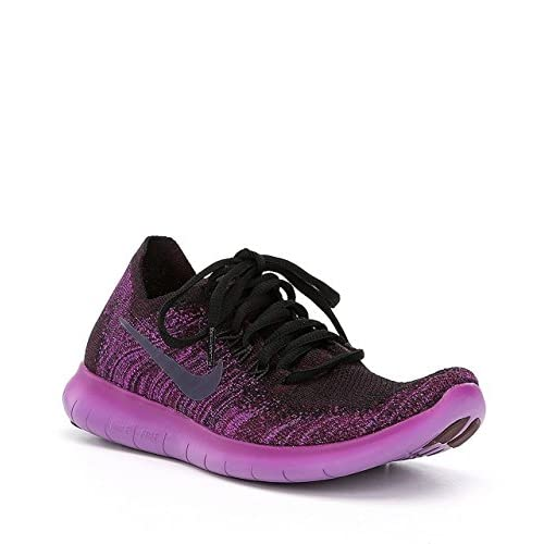 419rxTMADiL. SS500  - Nike Women's WMNS Free RN Flyknit 2017, Black/Dark Raisin-Deadly Pink, 7 UK