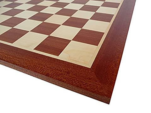 Professional Wooden Chess Board Tournament No.4. Inlaid Chessboad Mahogany &