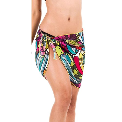 Bikini Couvrir Clode® Bikini sexy Beach Wrap de mousseline de soie enveloppé couvre-maillots de bain poitrine jupe Multicolore