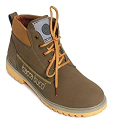 Bacca Bucci Mens Olive Boots - 10 UK, BBMA2137G