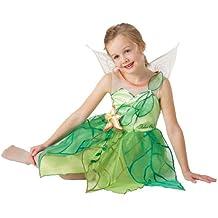 Disney I-884656L - Disfraz infantil de Campanilla con alas brazalete (talla L), color verde