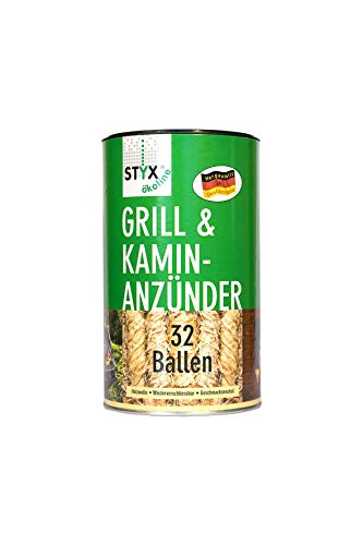 STYX Grill- & Kamin-Anzünder 32 Ballen