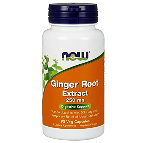Now Foods Ginger 5% Standard Extract, 250mg, Veg-capsules, 90-Count