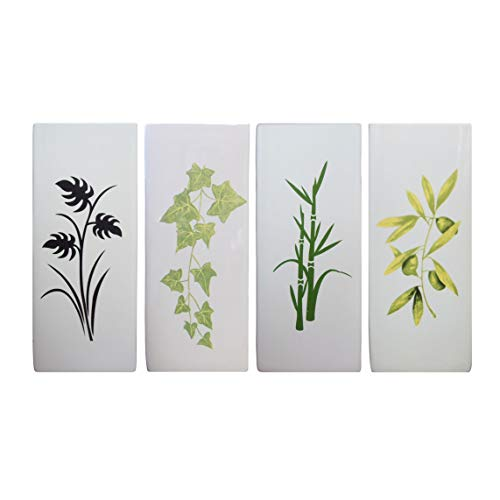 Luftbefeuchter 4-teiliges Set aus Keramik PLANTS zur Befestigung am Heizkörper Heizung Wasserverdunster Diffuser a1672