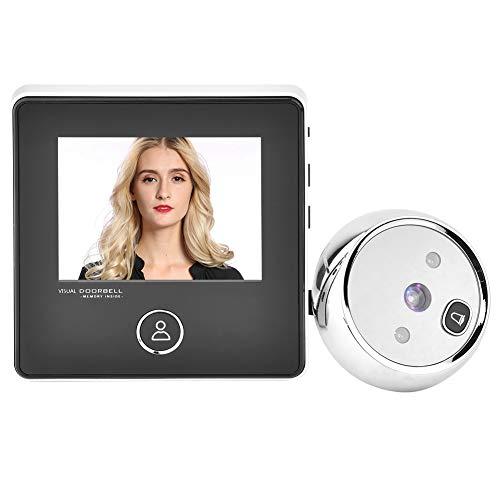 Visor Digital de Puertas, 3 Pulgadas TFT Pantalla LCD HD Timbre Visual con Mirilla Inteligente con visión Nocturna por Infrarrojos de 1 MP - Seguridad para el hogar