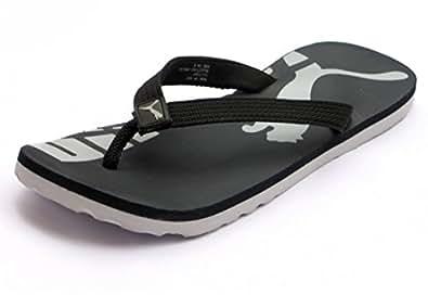 Puma Unisex John Black Synthetic Flip Flops 10 UK