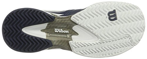 Wilson Rush Pro SL AC, Baskets Basses Mixte Adulte bleu/blanc