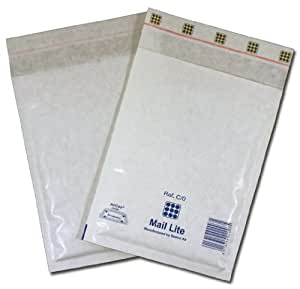 White Padded Bubble Envelopes 140x195mm STG 3 100 ENVELOPES