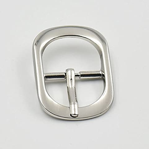 10 Pcs 3/4 19mm Center Middle Roller Bar Buckles Buckle for Leather Die Cast Belt Strap by micoshop
