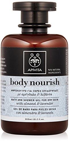apivita-body-nourish-bath-and-shower-gel-with-almond-lanvender-for-dry-skin-300ml-102oz-hautpflege