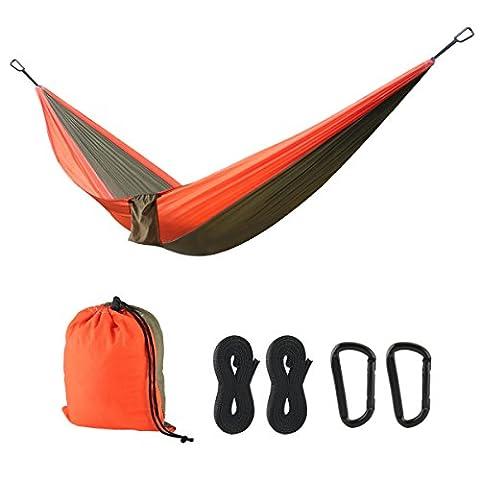 Scheme Hammock Camping Parachute Nylongewebe Hammock Hängematte Ultra-light Reise-Hängematte Outdoor Hammock Bed für Camping Wandern Rucksackreisen Reisen Strand (Parachute Stoff Hammock)