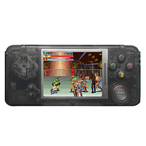 Jamicy Handheld Spielkonsole, Retro Spielkonsole 16 GB 3000 Klassiker, Tragbare Videospielkonsole, Geburtstags Kinder (Schwarz)