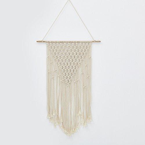 Boho Makramee Wandbehang Decor Bohemia Baumwolle Seil Cord Gewebte Home Dekorationen Art für Das Wohnzimmer Schlafzimmer 40x 60cm B (Für Mädchen Teen-schlafzimmer-vorhänge)