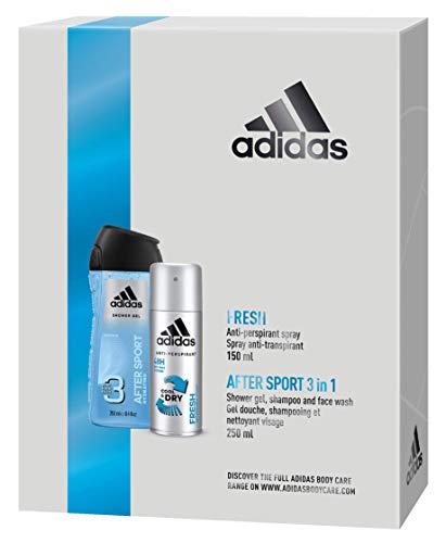 adidas Fresh für ihn Geschenkset Anti Persipant Deodorant 150ml + After Sport Duschgel, 250ml