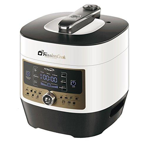 FUSSIONCOO FC7Smart - Olla electronica Programable Multifunción 16 Funciones, dispone de menú Pan con fermentación incluida. hace Yogur, trabaja como una Slow Cooker, Programable, Mantiene la comida caliente.