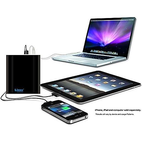 Lizone® Extra Pro 26000mAh súper capacidad Power Bank Batería Externa Cargador Portátil para Apple MacBook, Notebooks Dell, HP, Lenovo,IBM,tabletas,Móviles,Smartphones y Más -Aluminio UniBody-