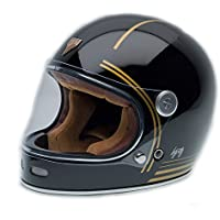 By City - Casco Retro ROADSTER FIBRA Gold Black Talla L