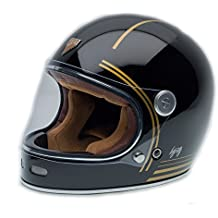 By City - Casco Retro ROADSTER FIBRA Gold Black Talla M