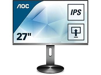 AOC I2790PQU/BT 68cm (27inç) monitör (VGA, HDMI, DisplayPort, USB hub, 1920x 1080, 4ms, Pivot) Siyah
