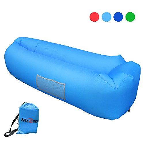 Aufblasbares Sofa IRegro Tragbarer Aufblasbarer Sitzsack Mit Integriertem  Kissen Und Integriertem Seitentaschen, Wasserdichtes Air Lounger