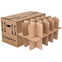 BB-Verpackungen Gläserkartons, 10 Stück, mit 15 Fächern Flaschenkartons für Umzug Verpackung Umzugskartons
