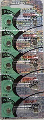 Maxell 379 - Pilas reloj calculadora 10 unidades