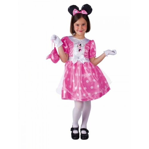 Rubie's - Disfraz de Minnie Mouse en caja con accesorios, color rosa (884983-S)