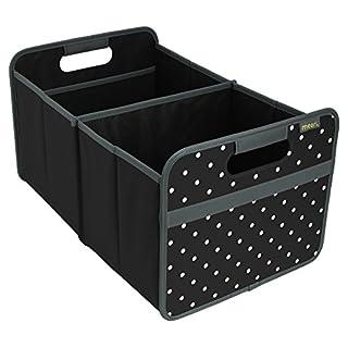 Meori Classic Large Lava Schwarz/Punkte 32x50x27,5cm stabil, abwischbar, Polyester Premium Qualität Freizeit Spielplatz Autobox Club Sport Spiel Faltbox