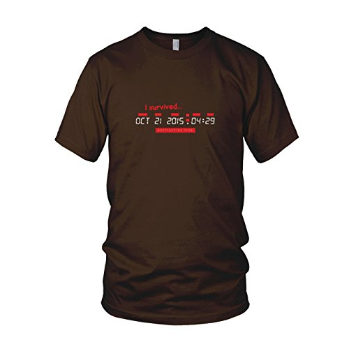 BTTF: I survived Destination Time - Herren T-Shirt, Größe: L, Farbe: (Zukunft Zurück In Die 3 Marty Mcfly Kostüm)