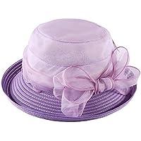 Sombrero - Moda para mujer Sombrero para el sol salvaje Primavera y verano  Protección contra el sol Sombrero de paja Vacaciones de ocio Viaje al aire  libre ... 032c29612abd