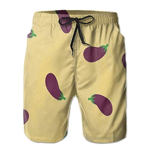 cleaer Eggplant Mens Boardshorts Boardshorts Quick-Drying Running Shorts Mens Swim Trunks Small -