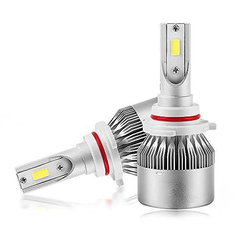High Power LED COB Chip Scheinwerfer Birne 9005/9006 Nebelscheinwerfer 6000K Super Bright Weiß 120W 20000 Lumen Beleuchtung Ersatz Kit - Plug & Play Fahrlampe mit Lüfter / Heatsink (9005/9006)