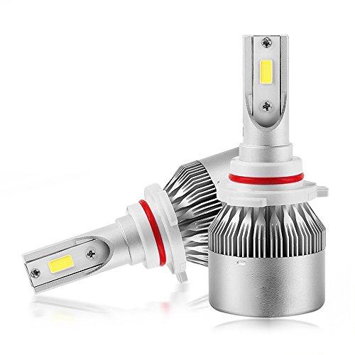 Lampadina per fari Mesllin LED 9005/9006 Chip COB 6000K Bianco brillante 120W Kit di illuminazione per 20000 lumen - Plug & Play Lampada di guida con ventola / dissipatore di calore