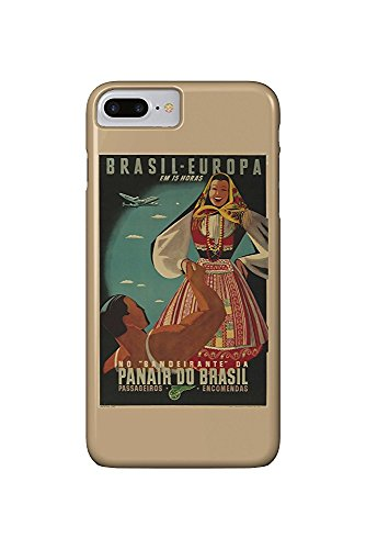 Panair do Brasil Vintage Poster c. 1947 (iPhone 7 Plus Cell Phone Case, Slim Barely There)