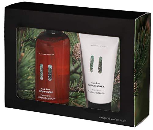 Weigand Exklusives Sauna Geschenkset bestehend aus Saunahonig Arctic Pine 150 ml und Body Wash Artic Pine 400 ml