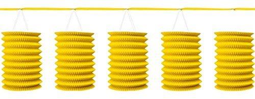 Einfarbige Laternen-Girlande 360 cm gelb