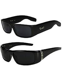2er Pack Locs 9006 Sonnenbrillen Motorradbrille Sportbrille Radbrille in der Farbe schwarz