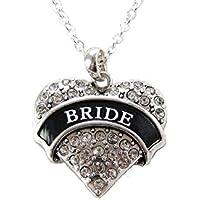 Sposa, in argento, con cristalli, a forma di cuore Wedding Bachelorette-Collana