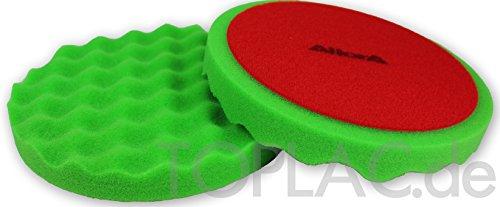 AllorA Polierpad grün gewaffelt Polierschaum D160 mm geeignet für 3M Schleifpaste