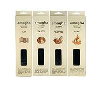 IRIS- INSENCE STICKS 4 COMBO PACK - LIFE OF 4 ELEMENTS ( EARTH-Vetivert, AIR-Frankincense, WATER - Frangipani, FIRE-Sandal) Fragrance Incense Sticks - 0524