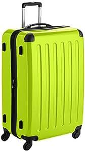 HAUPTSTADTKOFFER - Alex - Hartschalen-Koffer Koffer Trolley Rollkoffer Reisekoffer Erweiterbar, 4 Rollen, 75 cm, 119 Liter, Apfelgrün