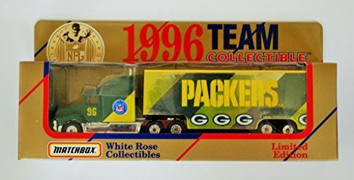 matchbox-white-rose-1996-nfl-team-collectible-180-scale-diecast-tractor-trailer-green-bay-packers-by