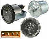 12V Electricial Oil Pressure Gauge And Sender Clock Gauge...
