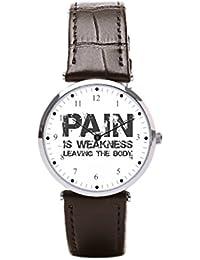 27fe6660825c Ser un hombre banda de cuero para hombre reloj militar de cuerpo dejar reloj  de pulsera
