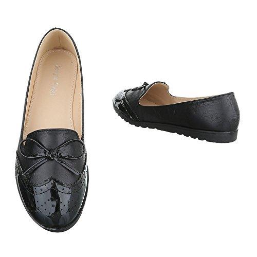 Pantofola Slitta Ital-design Mocassino Pantofola Nero J112
