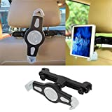 """LXCN® Universal Car Back Seat Tablet Holder 360°Degree Adjustable Rotating Mount for Apple iPad 2/3/4/Mini/Air/Pro,Samsung Galaxy Tab,Microsoft Surface,and Other Tablets Upto 7"""" to 11"""" inch - Black"""