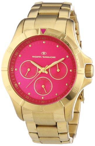 TOM TAILOR Damen-Armbanduhr Analog Quarz Edelstahl beschichtet 5412202