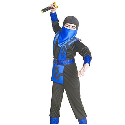 Muscle Ninja Kinder Jungen Muskel Kostüm Fasching Halloween Karneval (128/140)