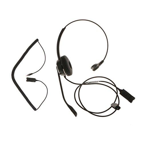 Sharplace QD auf RJ9 Monaural Kopfhörer Hände frei Telefon Headset Büro-IP-Geschäft Analog Festnetz Heim Hände frei Telefon HeadsetTelefone mit einem RJ9 Headset Anschluss (Heim-telefon-headset)